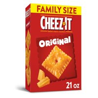 Cheez-It, Baked Snack Cheese Crackers, Original, Family Size, 21 Oz