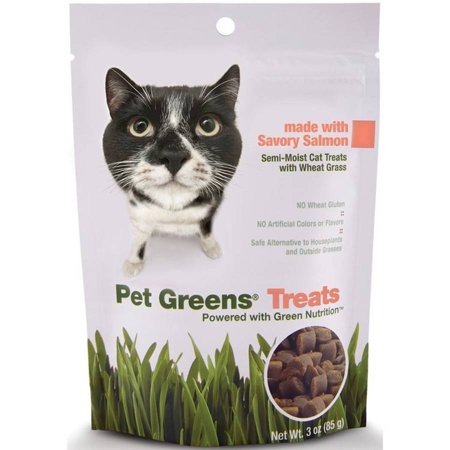 Pet Greens Semi-Moist Cat Treats Savory Salmon, 3 oz