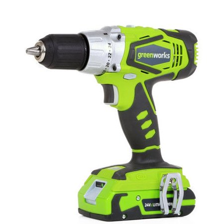 Greenworks 37012C 24V Cordless Lithium-Ion 1/2 in. Drill Driver