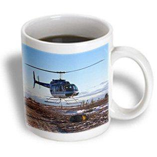 - 3dRose A helicopter delivers barrels of fuel, Ceramic Mug, 11-ounce