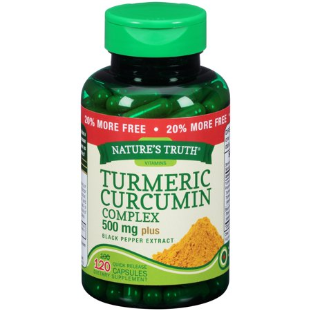 Natures Truth  Turmeric Curcumin Complex 500Mg Dietary Supplement Quick Release Capsules 120 Ct Bottle