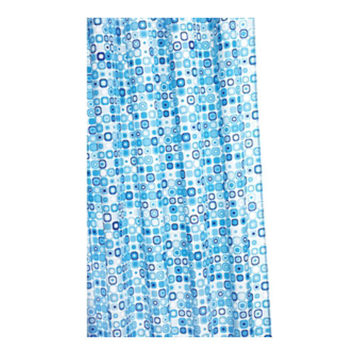 Croydex Geo Mosaic Polyester Fabric Shower Curtain