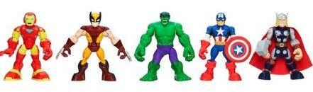 Playskool Heroes, Marvel Super Hero Adventures, Super Hero Team Pack [Wolverine, Hulk, Captain America, Iron... by