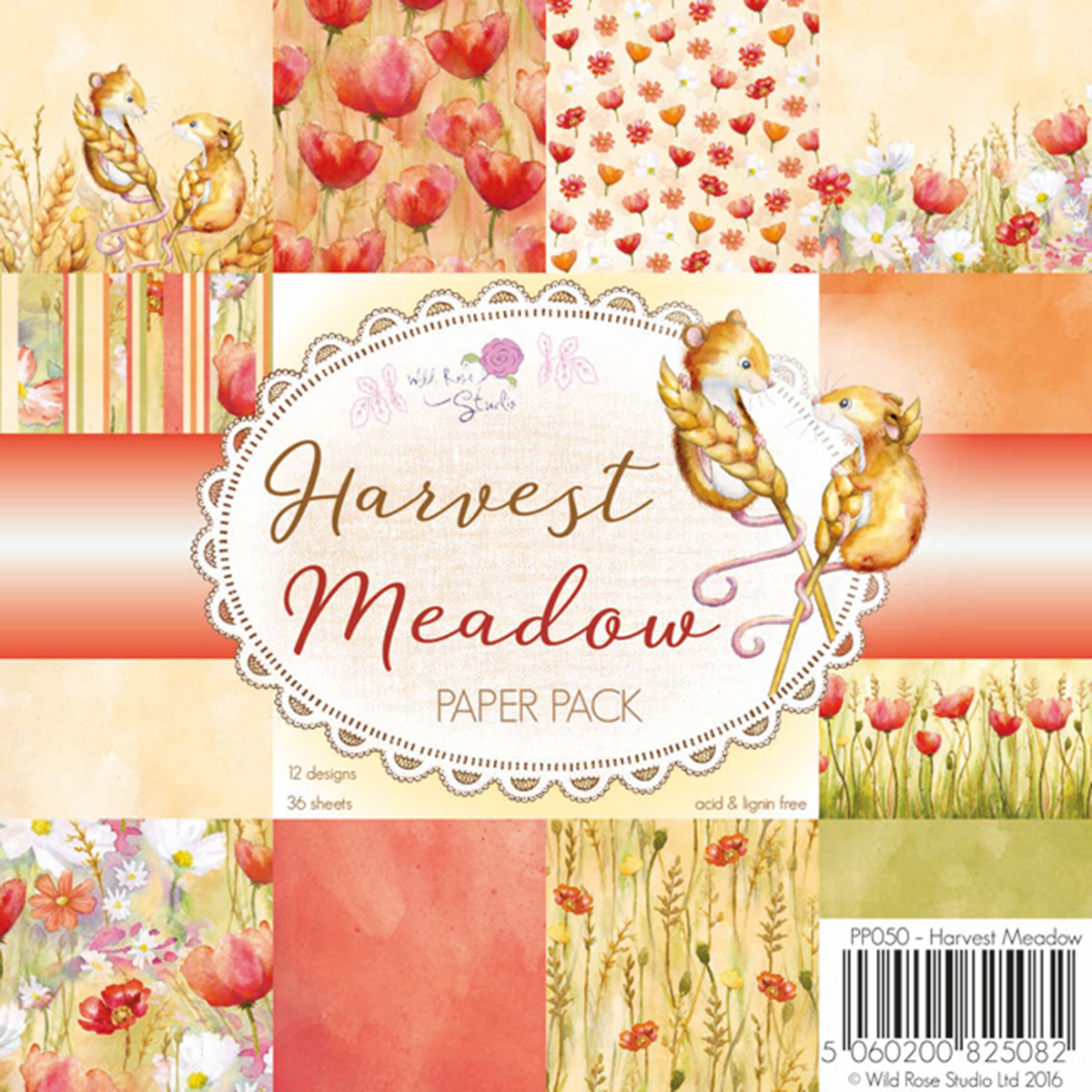 "Wild Rose Studio Ltd. Single-Sided Paper Pack 6""X6"" 36/Pkg-Harvest Meadow"
