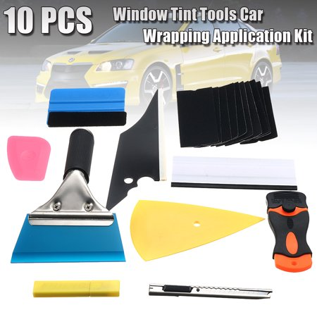 10 pcs Auto Film Wrap Tools Window Scraper Tint Car Wrapping Application Kit Sticker Vinyl Sheet Squeegee