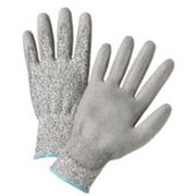 West Chester 813-720DGU-L Gray Pu Palm Coated Speckle Gray Hppe Gloves
