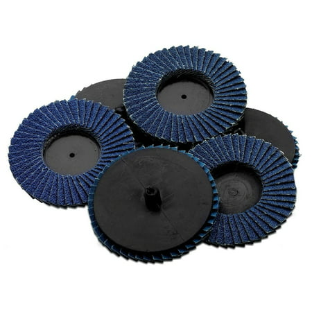 Flap Abrasive Discs 40 Grit 10 Pieces-Quick Change Grinding Wheels - For Rotary Tools, Die Grinder, Drill, Blending And Finishing Applications, By