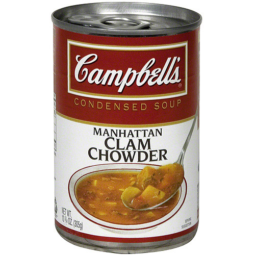 Campbell's Manhattan Clam Chowder Condensed Soup, 10.75 oz (Pack of 12)