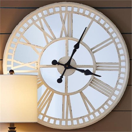 Split P 4300 265 Mirror Clock Cream 28 In Walmart Canada