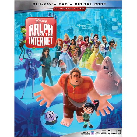 Ralph Breaks the Internet (Blu-ray + DVD + Digital) - Child Appropriate Halloween Movies