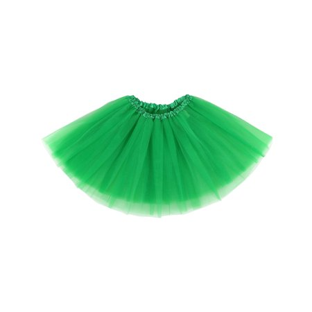 3 Layered Ballerina Tutu W/ Stretch Waist, Tulle Fibers, Dark Green (Buy A Tutu Online)