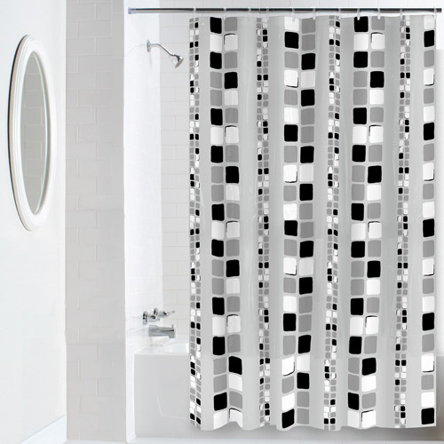 mainstays squares peva shower curtain