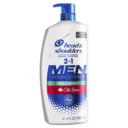 Head and Shoulders Old Spice Pure Sport Dandruff 2 in 1 Shampoo and Conditioner, 31.4 fl oz (Stimulating Spices)