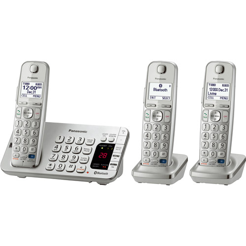 Panasonic KX-TGE273S Link2Cell Bluetooth Cellular Convergence Solution with 3 Handsets
