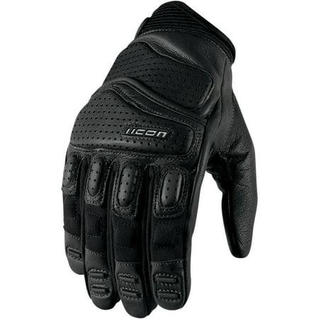 ICON Superduty™ 2 Glove Short Cuff (Black, (Icon Merc Short Motorcycle Glove)