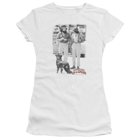 Cheech&Chong Up in Smoke Movie Famous Comedy Duo Funny Square Jrs Sheer T-Shirt (Cheech And Chong Halloween Girls)