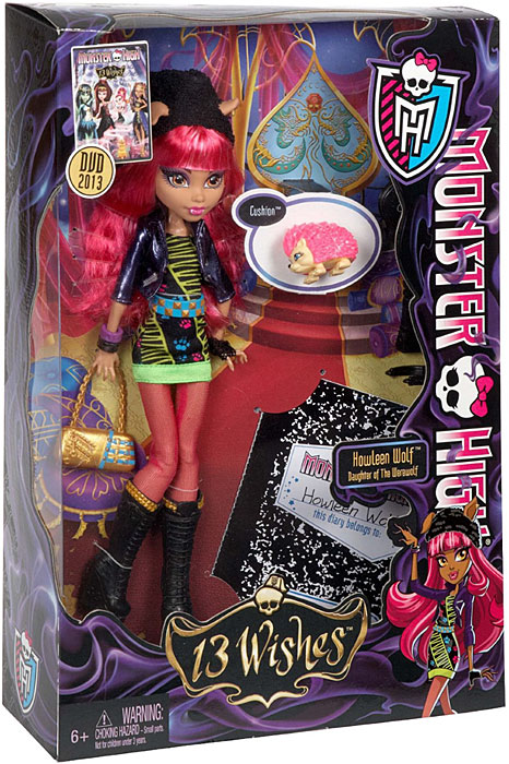 Monster High 13 Wishes Howleen Wolf Doll by Mattel