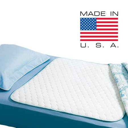 Reusable/ Washable Waterproof Bed Pad for Children or Adults Pack of 3 (34 X 36), Waterproof Barrier + Heavyweight Soaker By WMP