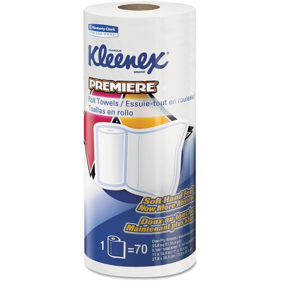 Kleenex Premiere Paper Towels, White, 70 sheets, 24 rolls