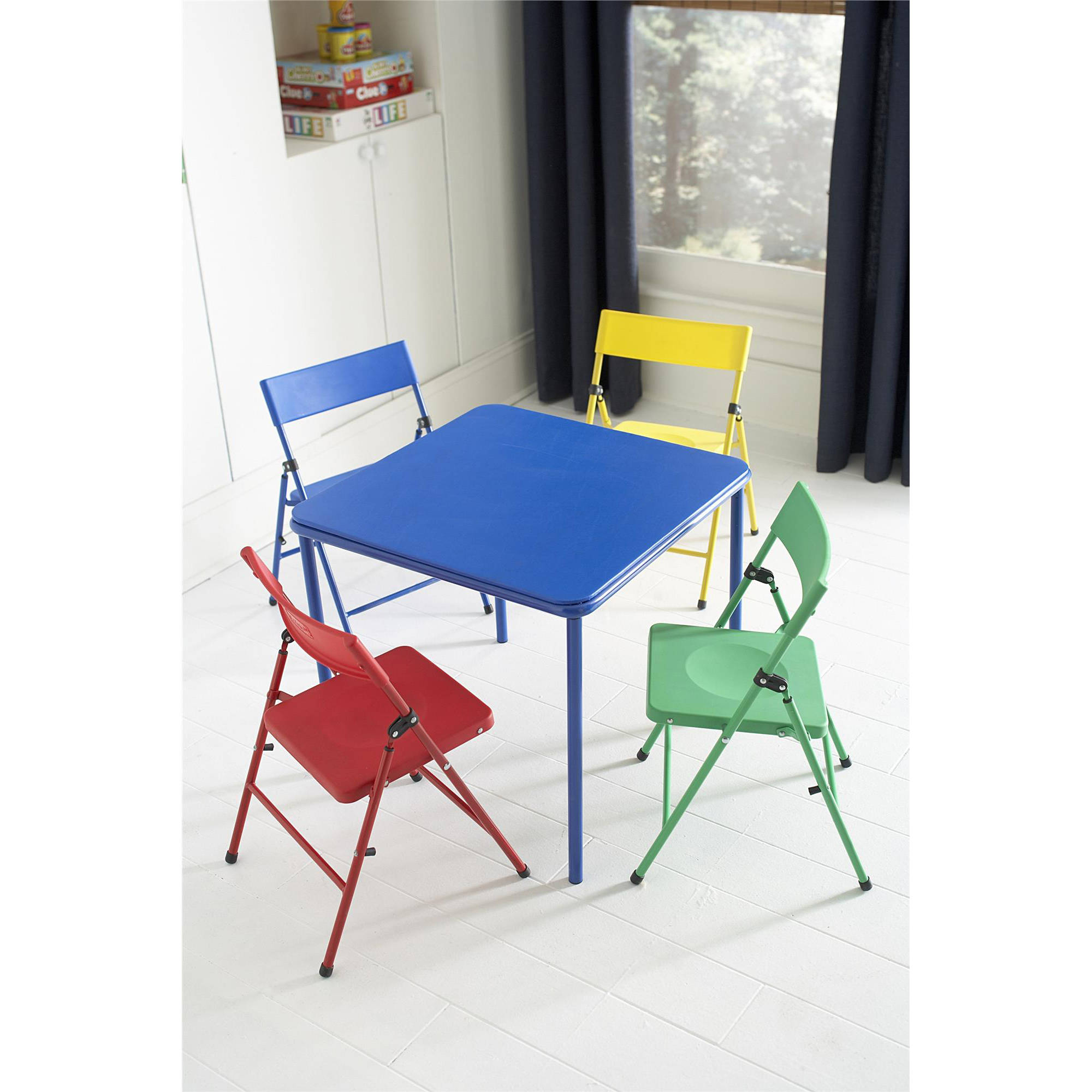 Cosco Kid\u0027s 5 Piece Folding Chair and Table Set  sc 1 st  Walmart.com & Cosco Kid\u0027s 5 Piece Folding Chair and Table Set - Walmart.com