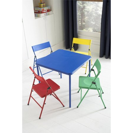 Cosco Kid\'s 5 Piece Folding Chair and Table Set - Walmart.com
