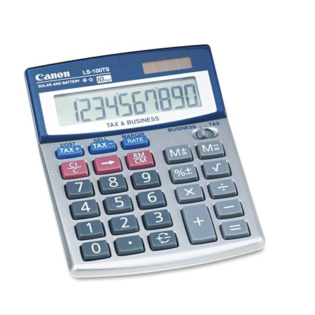 Canon Ls 100Ts Portable Business Calculator  10 Digit Lcd