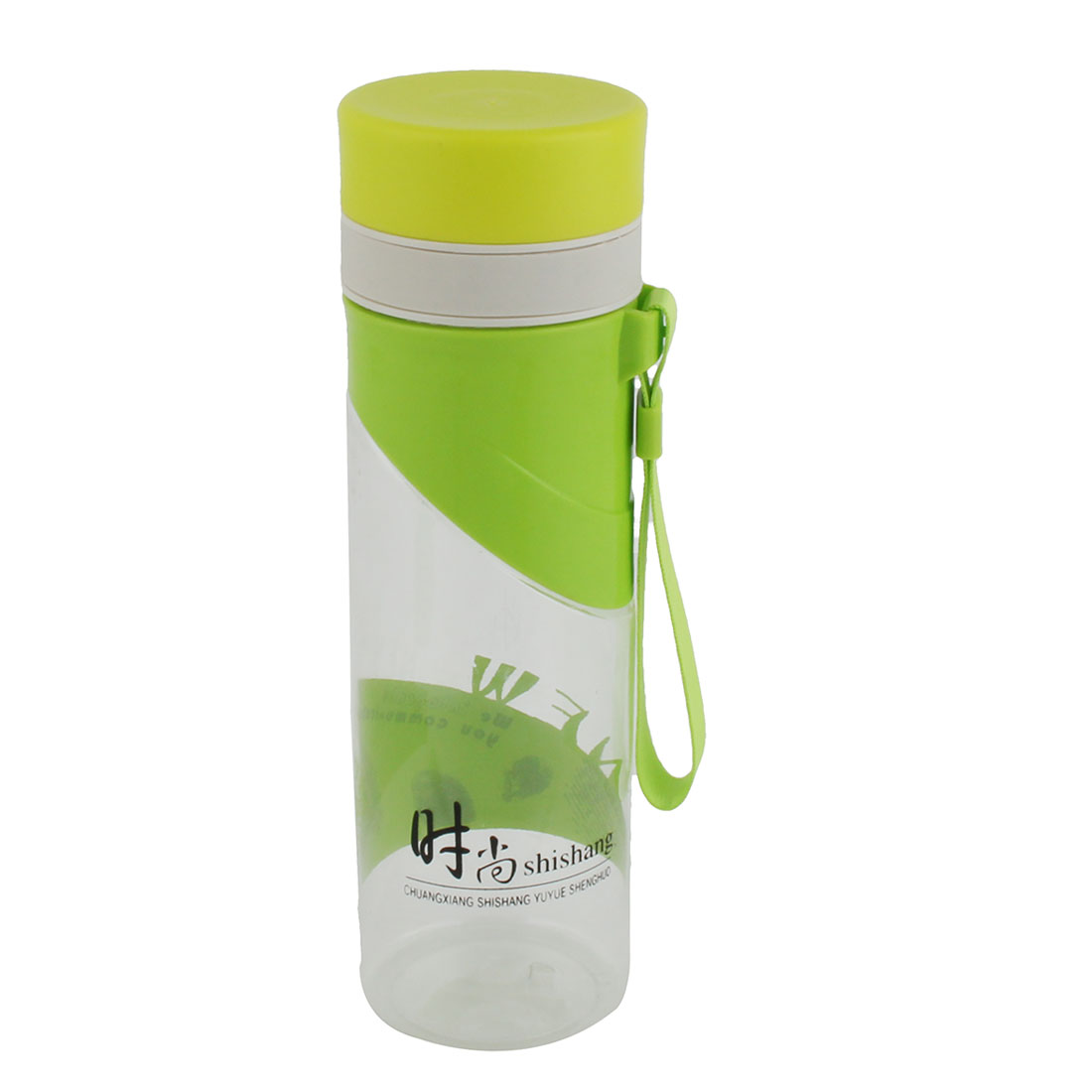 Unique Bargains Camping Plastic Handheld Water Tea Drinking Bottle Cup Green 500ml