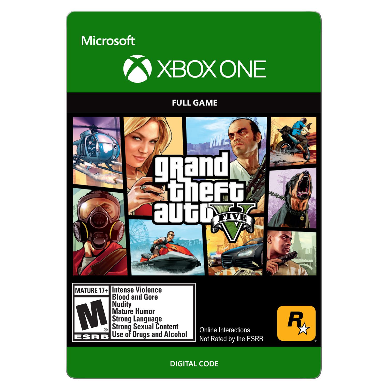 Grand Theft Auto V (Digital Download), Rockstar Games, Xbox One, 799366469209