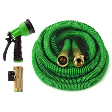 GrowGreen Expandable 100' Garden Hose Set w/ Nozzle
