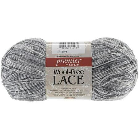 Wool-Free Lace Yarn, Tarnished Silver