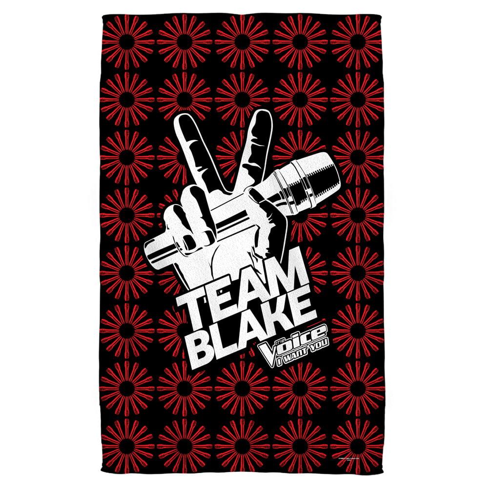The Voice Team Blake Beach Towel White 36X58