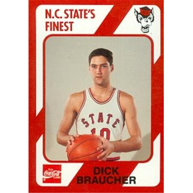 Dick Braucher Basketball Card (N. C.  North Carolina State) 1989 Collegiate Collection No. 24