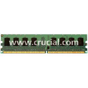 Crucial 4GB Kit (2GBx2) DDR2 PC2-5300 Unbuffered NON-ECC 1.8V 256Meg x 64