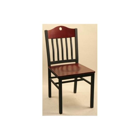 Empire Style Side Chairs w Rail Backs & Shaped Tops - Set Of 2 Maple Chair Rail