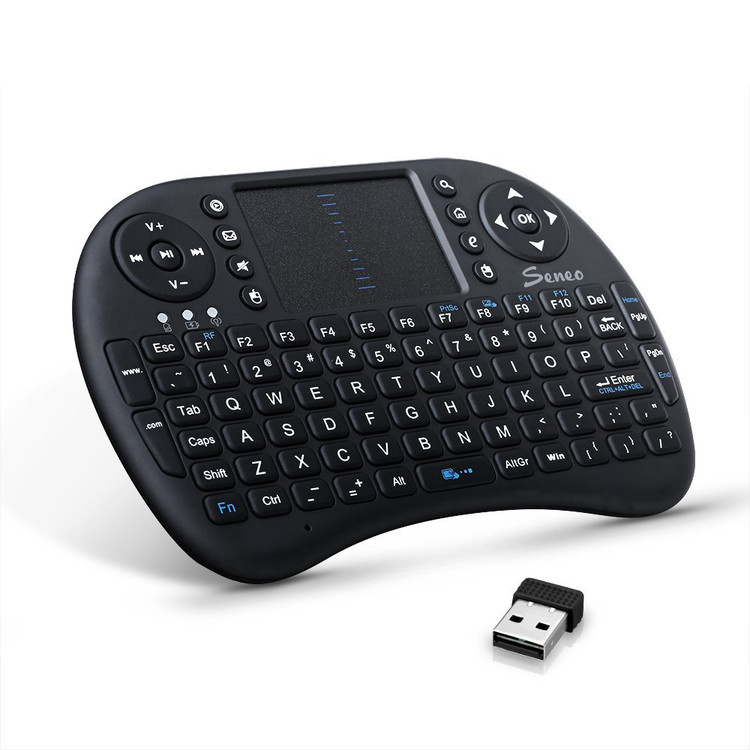 Seneo 2.4Ghz Multi-media Portable Wireless Handheld Mini Touchpad Keyboard