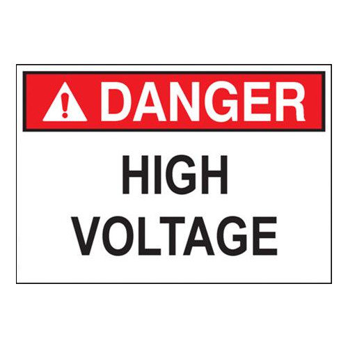 Safety Signs Danger High Voltage Keep Outft. (10inx14in)
