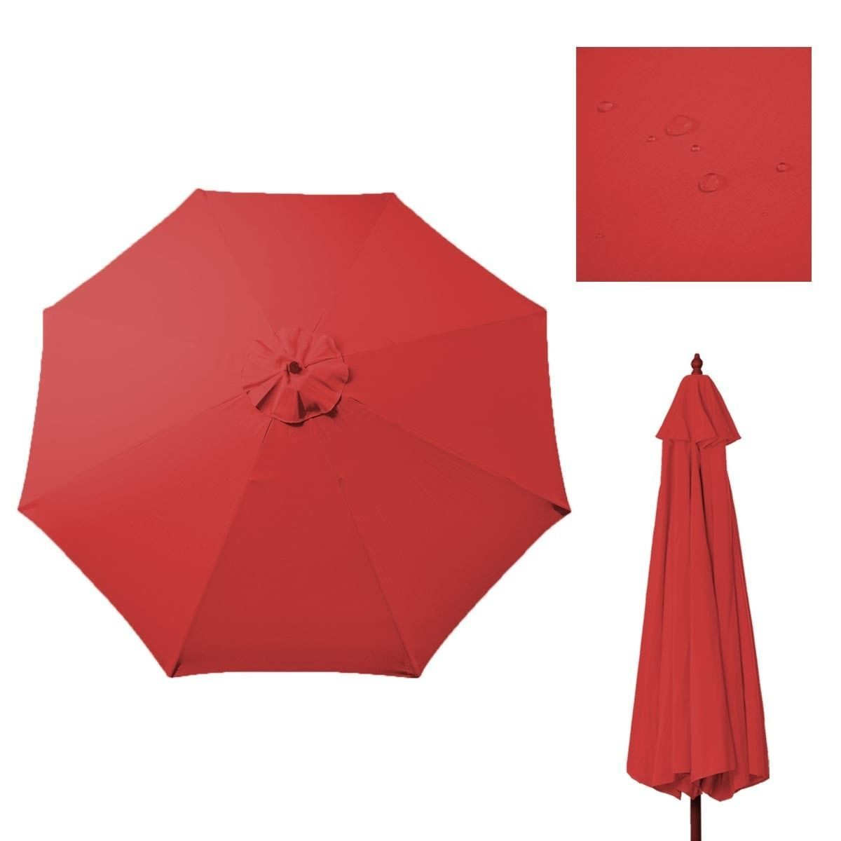 New Replacement Umbrella Canopy for 9FT 8 Ribs Color Red (CANOPY ONLY)  sc 1 st  Walmart : umbrella canopy replacement - memphite.com