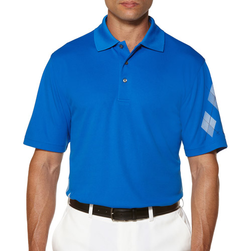 Ben Hogan's Men's Short Sleeve symmetrical Argyle Polo