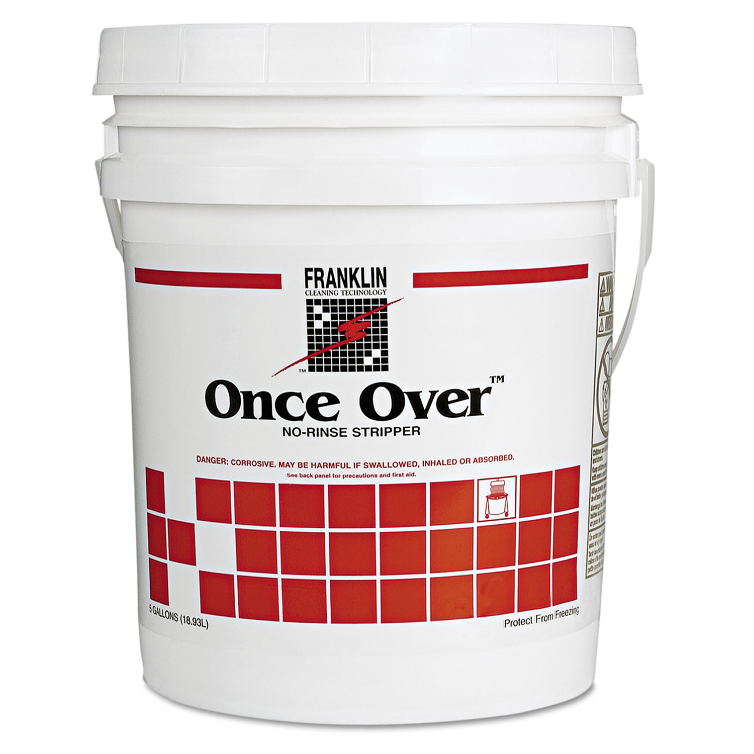 Once Over Floor Stripper, Liquid, 5 gal. Pail