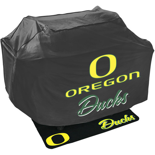Mr. Bar-B-Q NCAA Grill Cover and Grill Mat Set, University of Oregon Ducks