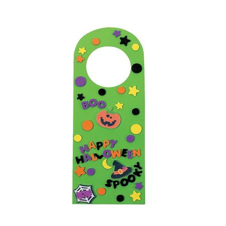 Pinterest Halloween Door Hangers (Halloween Friends Foam Door Knob Hangers - Craft Kits - 50)