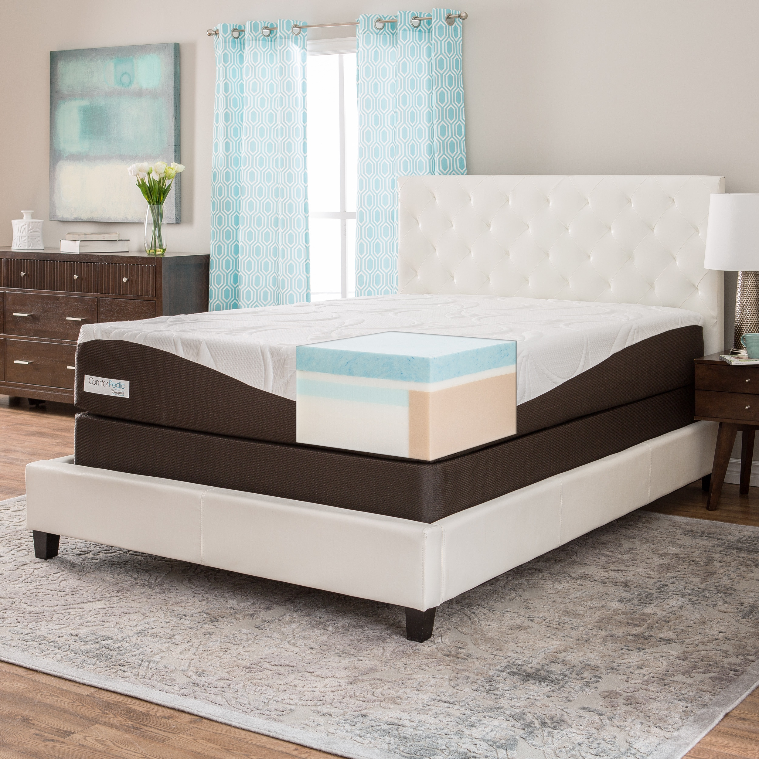 Simmons Beautyrest ComforPedic from Beautyrest 12-inch King-size Gel Memory Foam Mattress Set by Overstock