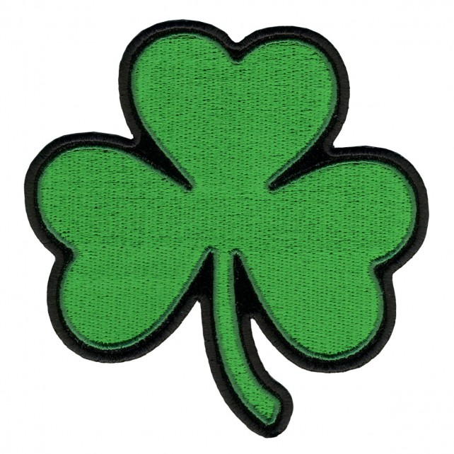 "Shamrock, Iron-on / Saw-on Rayon PATCH - 4"" X 4"", Exceptional Quality"