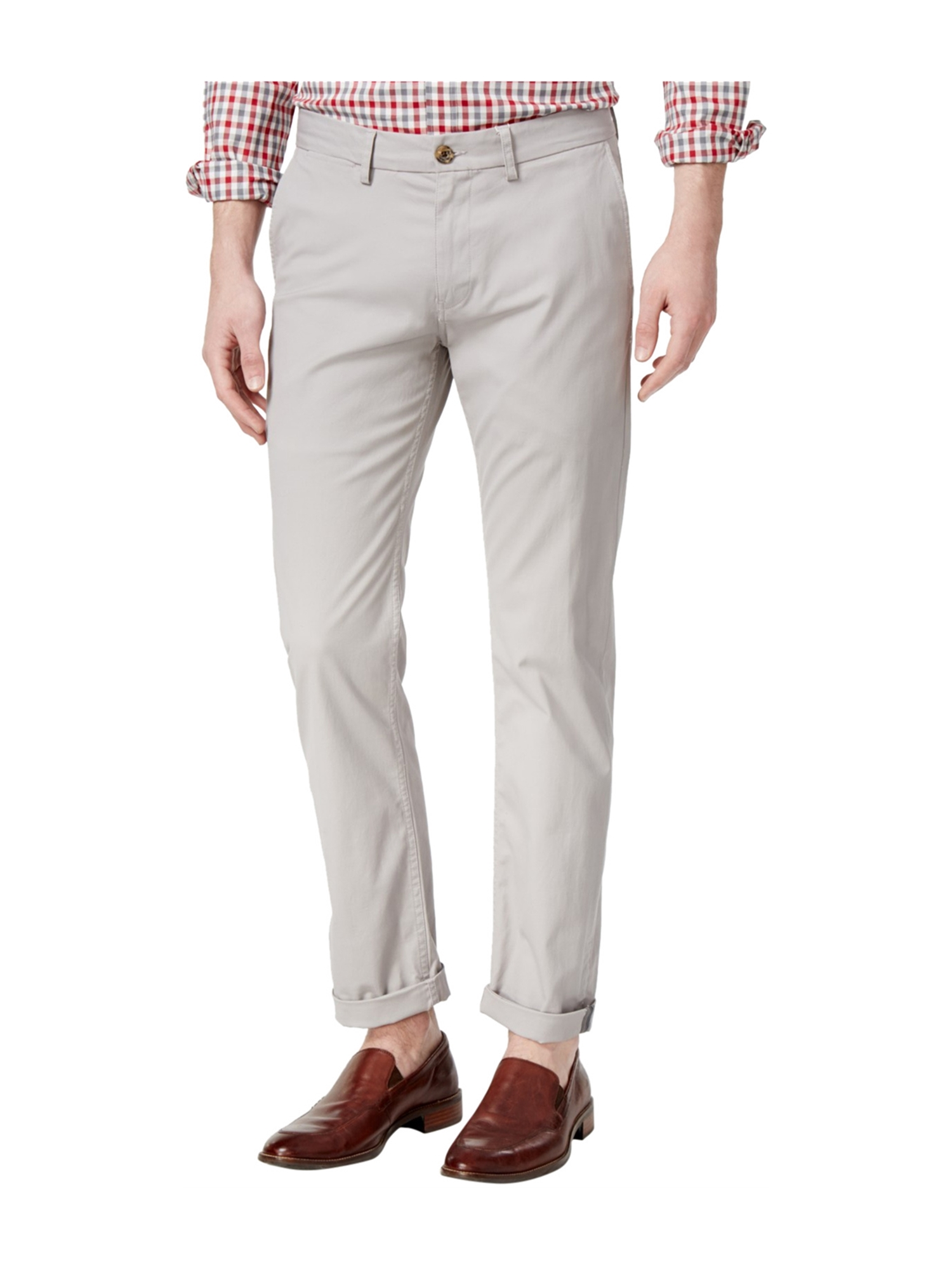 Azure Canvas Organic Cotton Kids Pull-on Long Pants-Brown