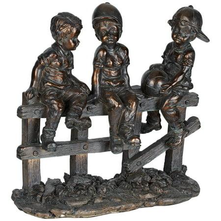 Child Sculpture - kensington hill kids sittin' on fence 10