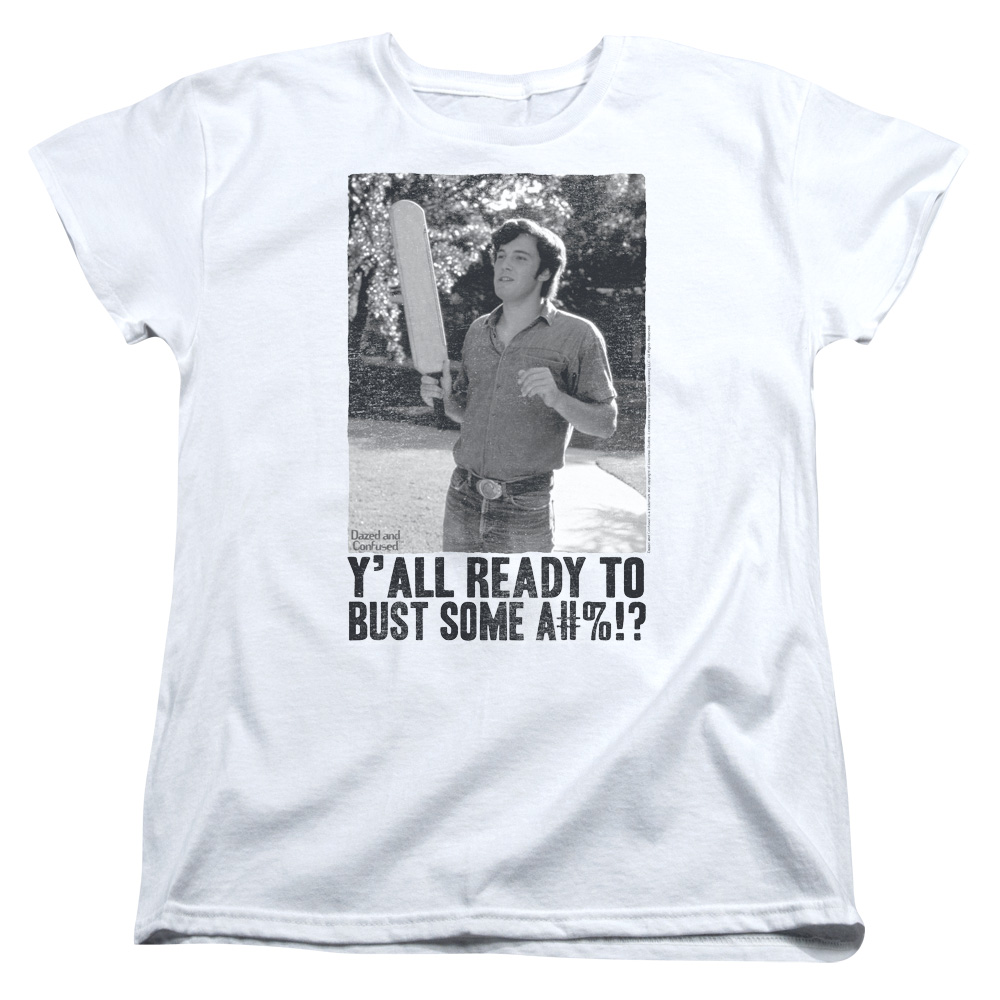 Dazed And Confused Paddle Womens Short Sleeve Shirt