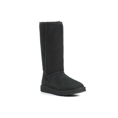 UGG Australia Women's Classic Tall Calf Height Sheepskin Black Boot (Size 5)