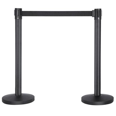 Belt Stanchion Queue Barriers Security Pole Posts Crowd Control Stanchion with 6.5' Retractable Belt Stanchion Set