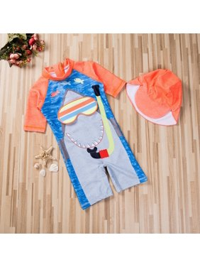 Toddler Baby Kid Boy Sun Protective Swimwear Rash Guard Bathing Suit Set Costume