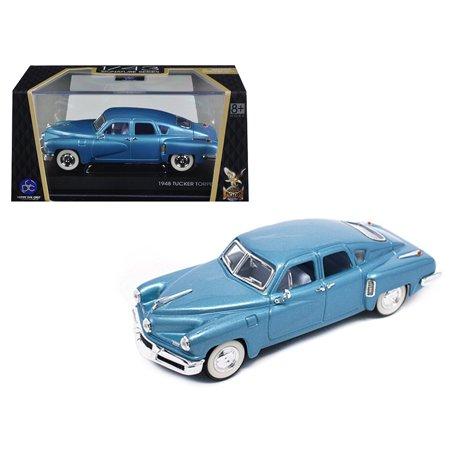 1948 Tucker Light Blue Signature Series 1 43 Diecast Model Car By Road Signature
